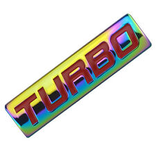 NEO CHROME/RED METAL TURBO ENGINE RACE MOTOR SWAP EMBLEM BADGE FOR TRUNK DOOR B
