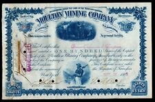 1885 William A Clark - Senator - Copper King - BEST signature Moulton Mining Co