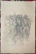 THEOPHILE STEINLEN Lithograph CHANSON DE ROUTE World War I WWI Poilu Signed