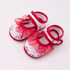 Newborn Infant Baby Girls Soft Soled Sneakers Lace Floral Footwear Crib Shoes