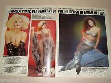 PAMELA PRATI clipping articolo fotografia foto photo 1991 AS31