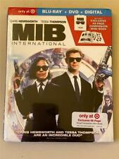 New Mib Men In Black International Blu Ray, Dvd & Digital With 48 Page Mini Book