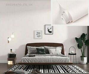 5m White Sticky Back Plastic Wallpaper PVC Fablon Bathroom Kitchen Bedroom Stick