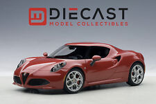 AUTOART 70189 ALFA ROMEO 4C, ALFA RED 1:18TH SCALE