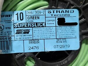 Encore #10awg 19 Stranded THHN/THWN-2/MTW Building Wire Green /100ft