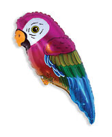 "Parrot 35"" Supershape Foil Balloon Hawaiian Luau Tropical Animal Bird Decoration"
