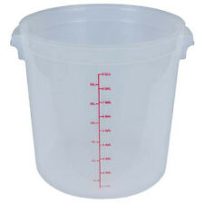 Food Storage Container - Round, 40 Qt. Capacity, White