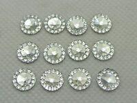 500 Clear Acrylic Flatback Round Rhinestone Gems 8mm Embellishments