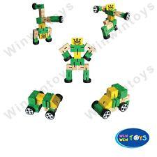 SALE Wooden TRANSFOMERS ROBOT Toy Educational COLOUR CREATIVITY CARs FIDGET KIDs