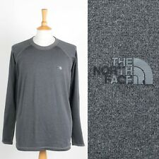 MENS THE NORTH FACE LIGHTWEIGHT SPORTS SWEATSHIRT VAPOR WICK SWEATER GREY XL