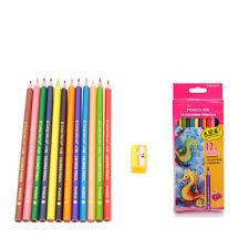 Marco 12 Colors Painter Metallic Non-toxic Drawing Pencil Set + Pencil Sharpener