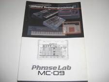Mode d'emploi pour Roland mc-09,, anglais Manuel-original!