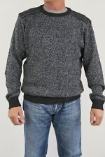Gasoline Mens Crew Neck Ribbed Pullover Jumper sizes Small Medium Large XL