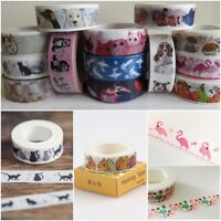 Animals Birds Fish Washi Tape- Cats Dogs Rabbit Flamingos Penguins Hedgehog