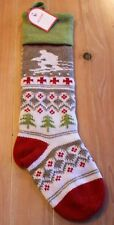 New Pottery Barn Kids Classic Fair Isle SKIER Christmas Holiday Stocking