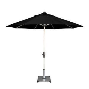 Shelta Fairlight 2.7m Octagonal Patio Market Outdoor Aluminium Umbrella Black