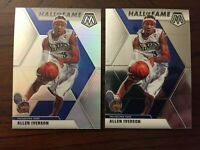 2019-20 Panini Mosaic Hall Of Fame Silver Prizm Allen Iverson + Base Lot of 2