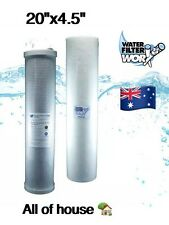 """ALL OF HOUSE WATER FILTERS 5 MICRON REPLACEMENT PACK  TWIN BIG BLUE 20"""" X 4.5"""" ✅"""
