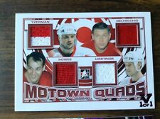 2012-13 ITG Motown Madness JSY Quads VAULT #1/1 Red Wings Howe/Yzerman/Lidstrom/