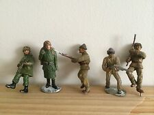 5 Vintage Lead-Made Toy Army Soldiers