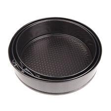 3 Round Non Stick Tins Bakeware Springform Tray Pan Baking Cake Mould Set