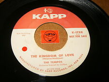 THE TEMPOS - THE KINGDOM OF LOVE - THAT'S WHAT YOU- LISTEN - VOCAL GROUP POPCORN