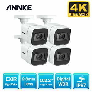 ANNKE 4x 8MP 4K Night Vision IP67 Surveillance Camera for Security CCTV System