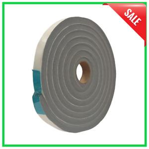 Door Window Seal Weather Stripping Foam Tape Grey Vinyl 3/4 in. x 1/2 in. 10 ft.