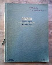 Cossor Oscillograph 339 Manual from 1944 vintage radio television (oscilloscope)