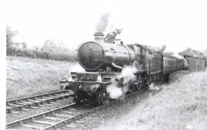 Rail Photo GWR 460 Castle 5097 All Stretton Halt Shropshire leebotwood all stret