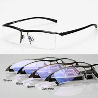 2018 Men Glasses Eyewear Eyeglasses Titanium Frame Halfrim Spectacles Optical RX
