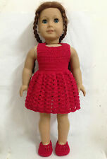 "3pc American girl's love Doll Clothes sweater dress sweater shoes for 18"" doll"