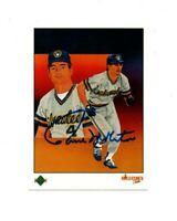 Paul Molitor autograph signed 1989 Upper Deck baseball card Milwaukee Brewers !!