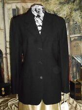 USA 12 Calvin Klein Blazer Coat Black m/i USA of Italian Wool NWT & Silk Scarf