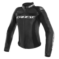 New Dainese Racing 3 Perforated Leather Jacket Women's EU 42 Black #253378969142