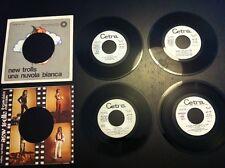 NEW TROLLS lotto 4 dischi juke box + 2 copertine forate 1968 1971 LEGGI TITOLI