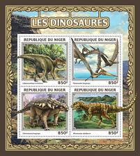 Niger 2016 MNH Dinosaurs 4v M/S Pteranodon Afrovenator Edmontonia Stamps