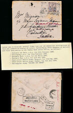 GB QV to INDIA REDIRECTED in BURMA MOULMEIN DLO + HOSTER MACHINE DATE ERROR 1868