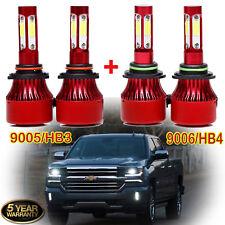 Combo 9005 9006 Cree Led Headlight Bulb Kit 2800W for Chevy Silverado 1500 2500