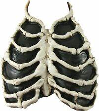 Skeleton Bone Chest Piece Zombie Corpse Prop Adult Halloween Costume Accessory