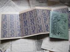 Sajou francese CROSS STITCH PATTERN album-Album VERDE N. 656-alfabeti