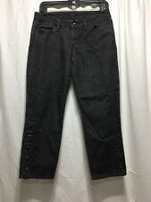 Women's Joe's Jeans Size W28 Cropped With Snaps On Pant Legs