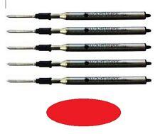 5 - Ballpoint Refills by Monteverde for LAMY Pens - LM16 - Red Medium