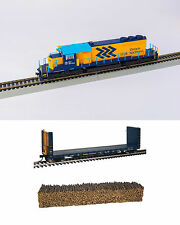 Bowser Ontario Northland ONR SD40-2 Locomotive #1736 with flat car - DCC Sound