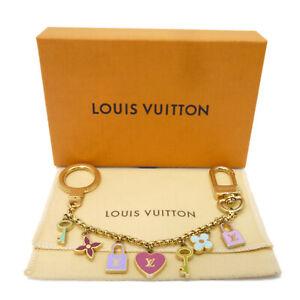 Authentic LOUIS VUITTON Porte Cles Chaine Pretty Multi-Color M66131 #K502060