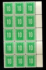 ISRAEL 1949 NUMBER 10 (x15) DUE STAMPS, XF, MNH