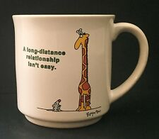 Sandra Boynton Coffee Mug Cup Long Distance Relationship Mouse Rat Giraffe Humor
