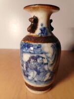 Petit vase porcelaine chinois ancien Nankin Chine 19 siècle chinese China