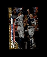 2020 Topps Factory Set JUDGE/SANCHEZ Gold Star Yankees NY State of Mind #591