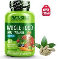 NATURELO Whole Food Multivitamin for Men - Non-GMO - Gluten-Free - 120 Capsules